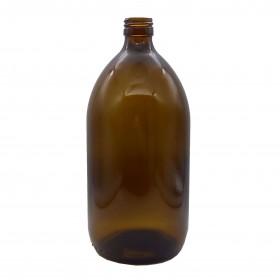 Botella Vidrio Ámbar 1L